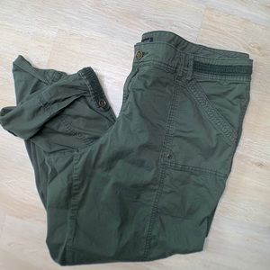 Maurice crop pants olive green 22